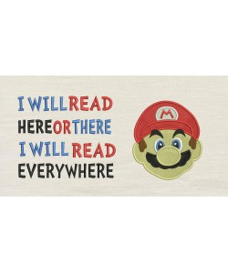 Mario Embroidery v2 with i will read