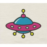 Space ship Embroidery