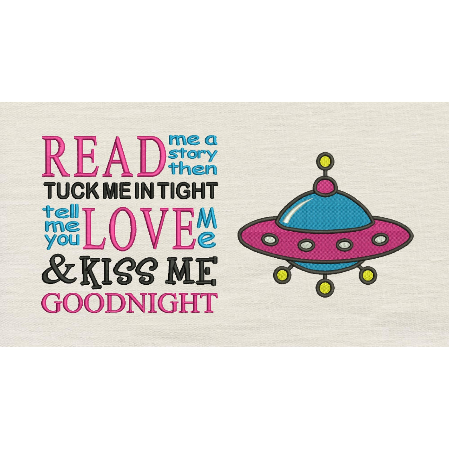 Space ship with read me a story