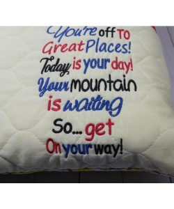 You're off to Great Places embroidery