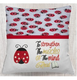 Ladybug To Strengthen embroidery