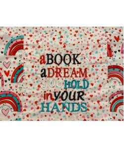 A book is a dream embroidery design