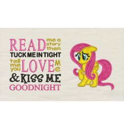 Fluttershy applique with read me a story