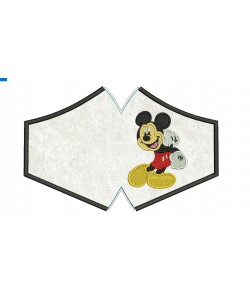 Face Mask Mickey For kids and adult in the hoop