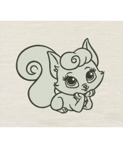 Cat girl embroidery