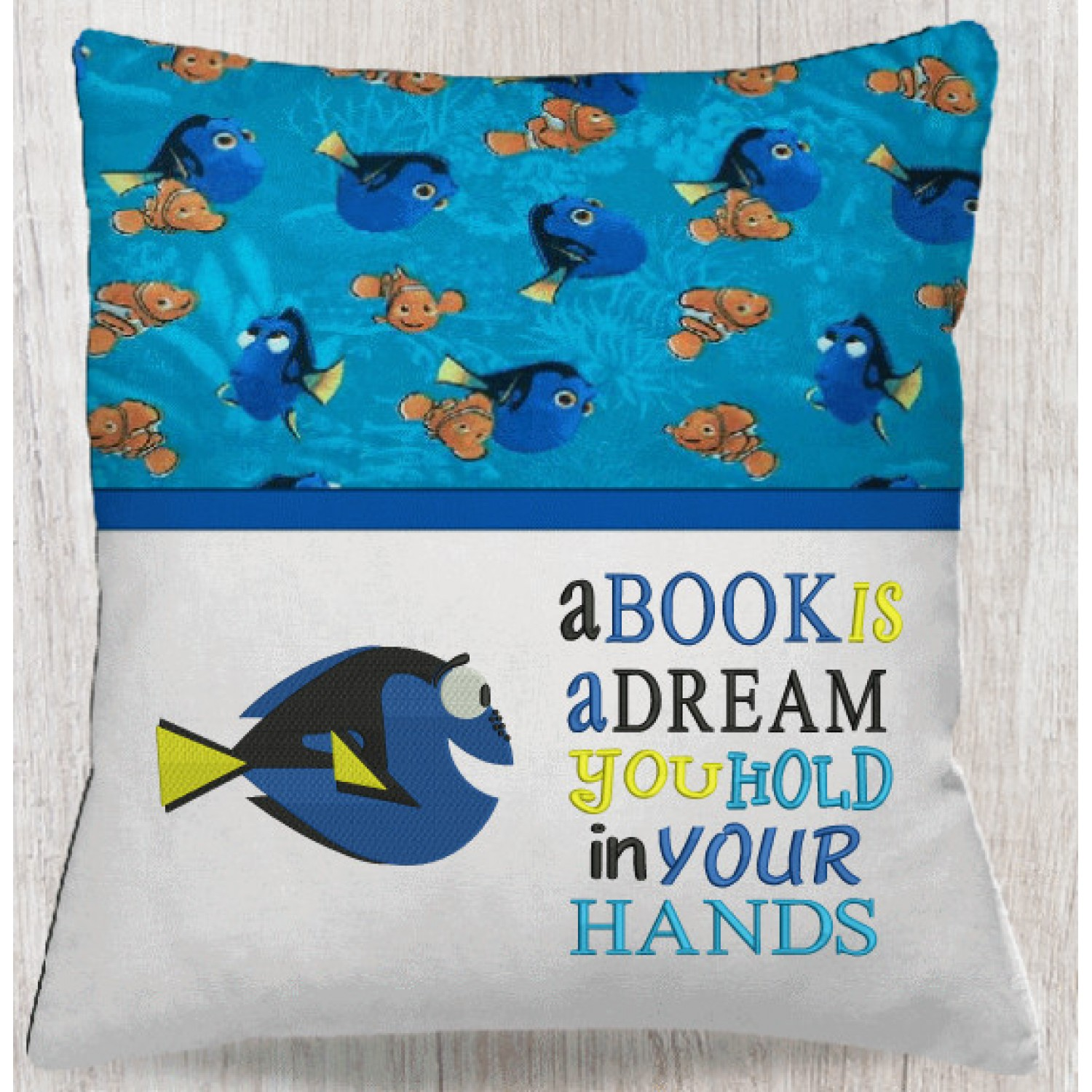 Dory fish with A book is a dream