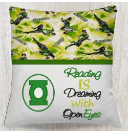 Green lantern Logo with reading is dreaming