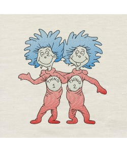 Thing 1 Thing 2 V2 embroidery design