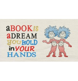 Thing 1 Thing 2 V2 with A book is dream
