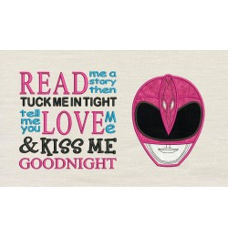 Power Ranger Pink with read me a story