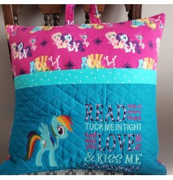 Rainbow Dash with read me a story embroidery