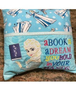 Elsa Frozen a book is a dream embroidery