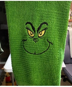 Grinch eyes embroidery
