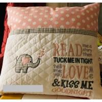 Elephant Hearts read me a story Embroidery
