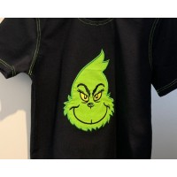 Grinch face embroidery