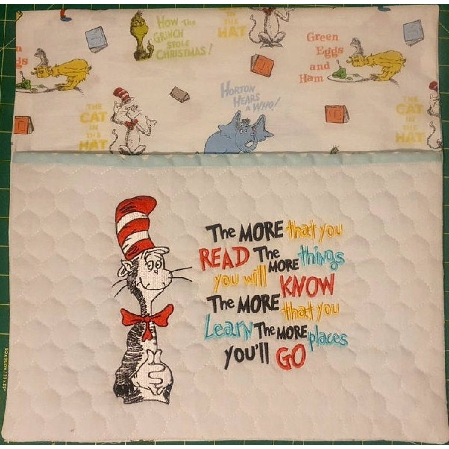 Dr. Seuss embroidery with the more that you read