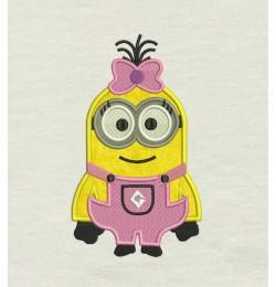 Lola minion applique Embroidery
