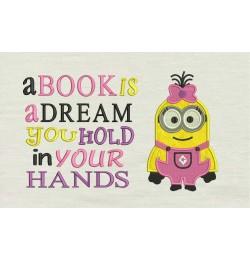 Lola minion with a book is a dream