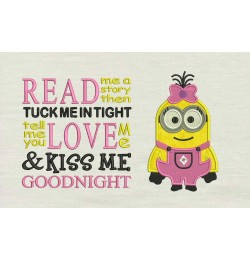 Lola minion with read me a story