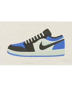 Nike shoes embroidery design