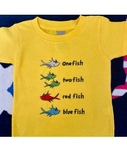 One fish two fish Embroidery