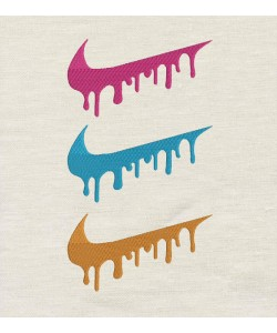 Nike Triple Colors Embroidery Design