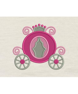 Princess carriage embroidery