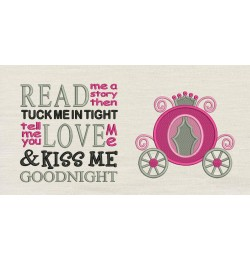 Princess carriage with read me a story
