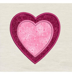 Two hearts applique design