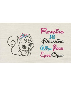 Cat princess with reading is dreaming V2