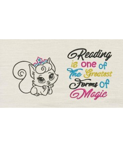 Cat princess with Reading is one of