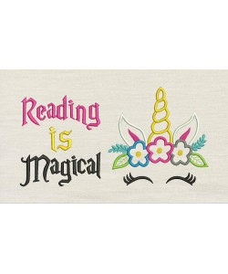 Unicorn empty with Reading is Magical
