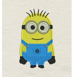 Bob minion embroidery
