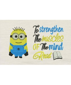 Bob minion embroidery with To strengthen