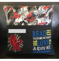 Spiderman with read me a story reading pillow