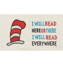 Hat Dr Seuss with i will read