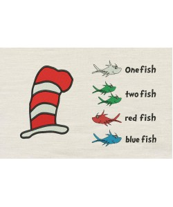 Hat Dr Seuss with one fish two fish