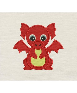 Baby Dragon Embroidery