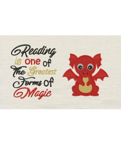Baby Dragon Embroidery with Reading is one of