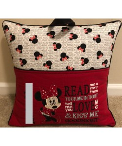 Minnie mouse with read me a story embroidery