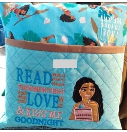 Moana with read me a story Embroidery