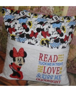 Minnie mouse with read me a story Designs