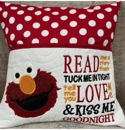 Elmo applique with read me a story