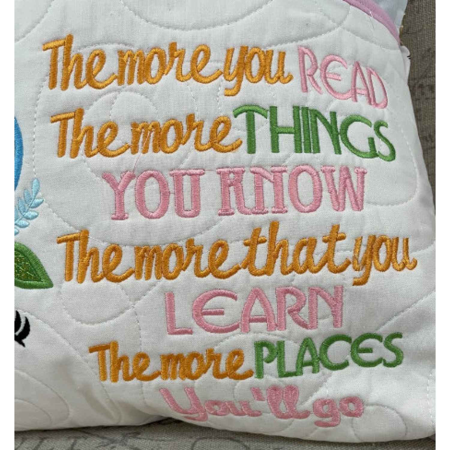 The more you read Embroidery