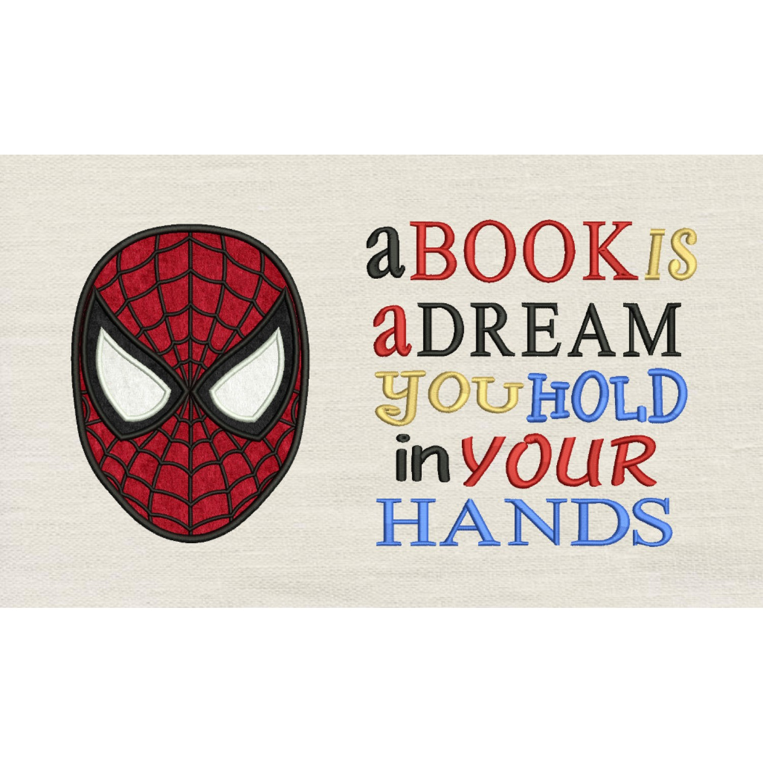 Spiderman face with a book is a dream