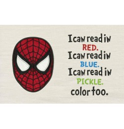 Spiderman face with I Can Read