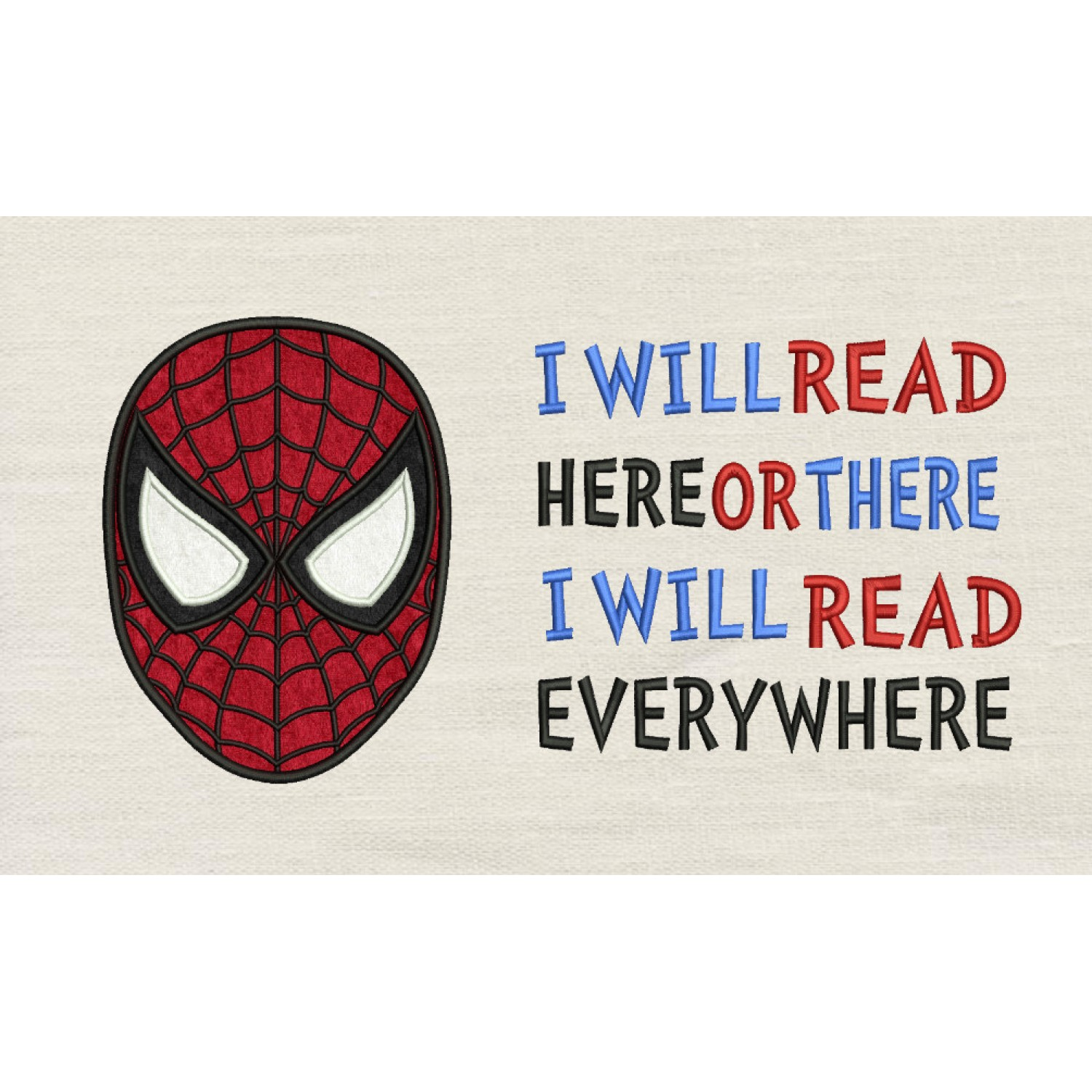 Spiderman face with i will read