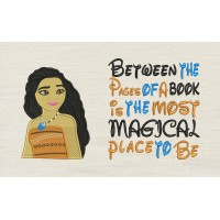 Moana emboidery with Between the Pages