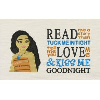 Moana emboidery with Read me a story