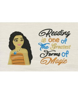 Moana emboidery with reading is one